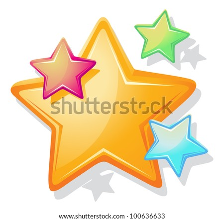 illustration of stars on a white background - EPS VECTOR format also available in my portfolio.
