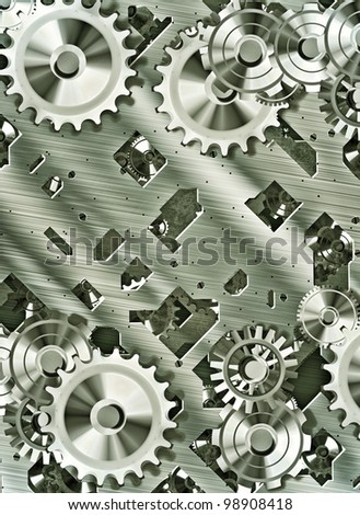 illustration of steampunk inspired cogs and clockwork
