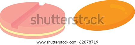 illustration of tablets on a white background #62078719