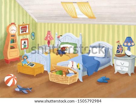 illustration of the children's room