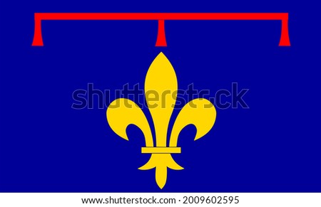 Illustration Of The Flag Of Alternate Provence Region In France. Color Drawing Of A French Regional Flag Stock fotó ©