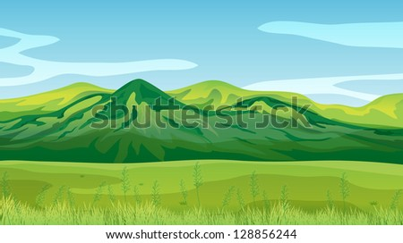 Illustration of the high mountains