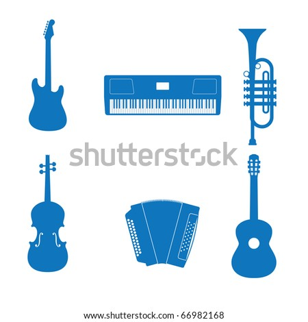 illustration of the icons music instrument