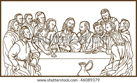 illustration of the last supper
