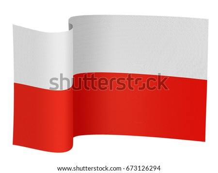 illustration of the Poland flag on a white background Stock photo ©