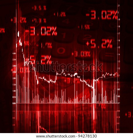 illustration of the red stock market chart