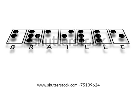 Illustration of the word Braille