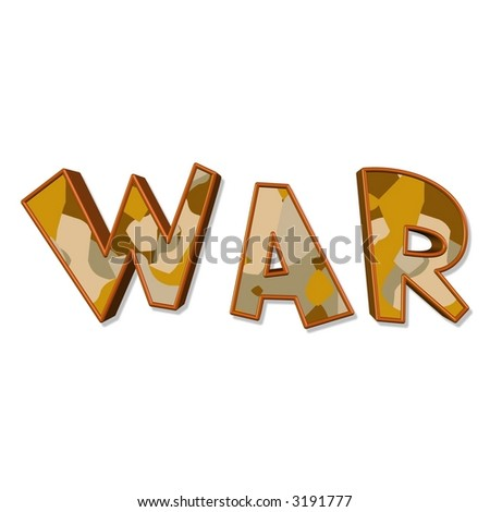 Illustration Of The Word War - 3191777 : Shutterstock