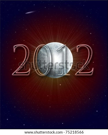 Illustration of the Year 2012 in Mayan prophecy