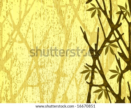 Illustration of tree branches with background grunge