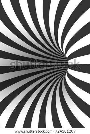 Illustration of Tunnel Template. Spiral Illusion Twisted Vortex ...