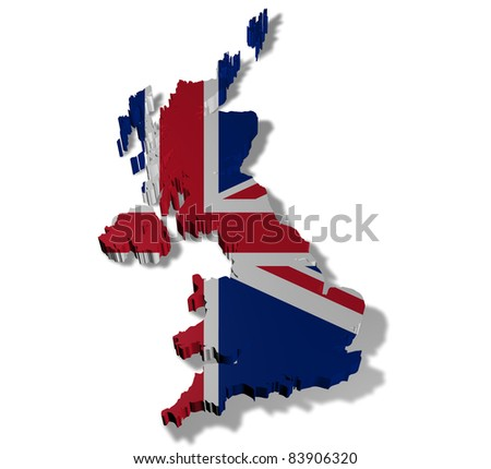 Illustration of united kingdom of great britain on white background