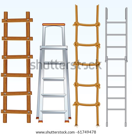 Illustration of various isolated ladders - (similar version vector id=61748359 )