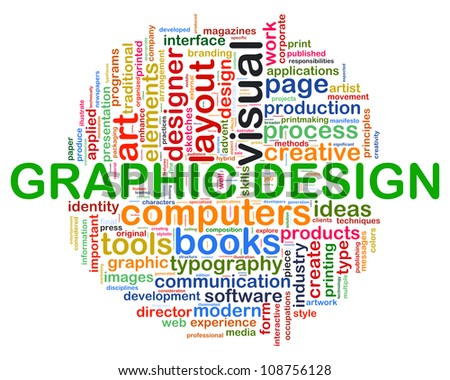 Illustration of Words tag of concept web design