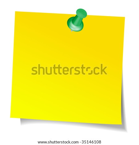 illustration of yellow sticky note
