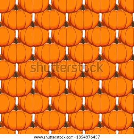 Illustration on theme of bright pattern yellow pumpkin, vegetable gourd for seal. Vegetable pattern consisting of beautiful pumpkin, many gourd. Simple colorful vegetable pattern from gourd pumpkin.