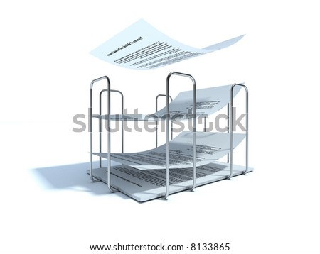 Illustration. Paper-holder on white background