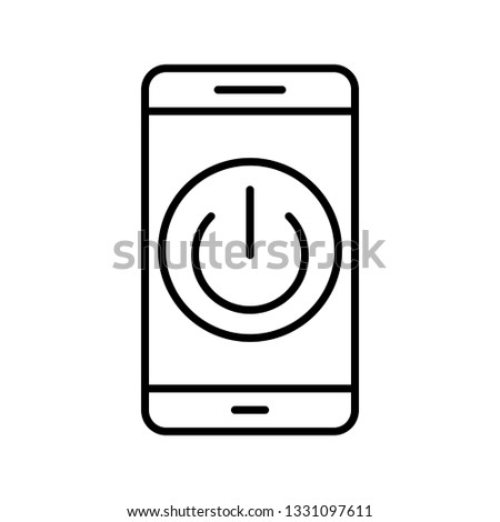 Illustration Power off Mobile Application  Icon #1331097611