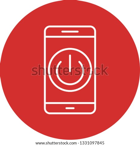 Illustration Power off Mobile Application  Icon #1331097845