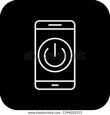 Illustration  Power off Mobile Application Icon #1344020123