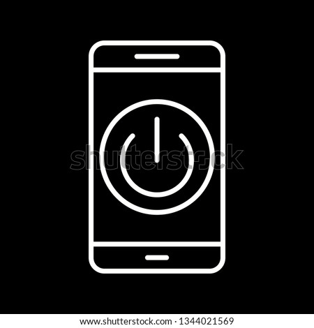 Illustration  Power off Mobile Application Icon #1344021569
