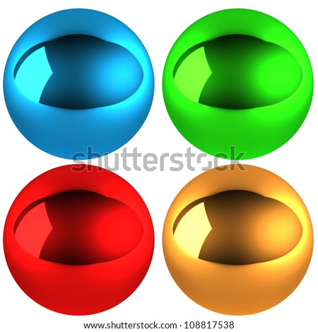 Illustration set of color  spheres