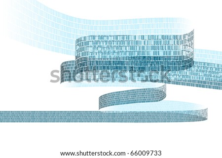 illustration showing a stream of digital data