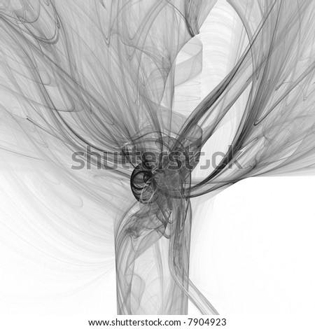 Illustration. Smoke on white background