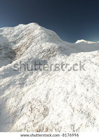 Illustration. Snowy Mountains