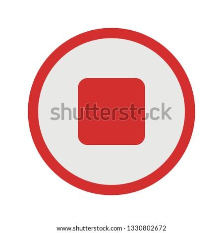 Illustration Stop  Icon #1330802672
