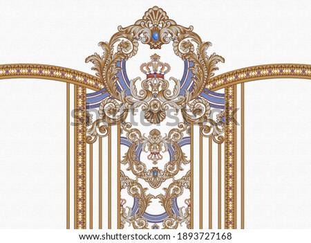 illustration textile design paisley texture