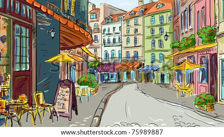 Illustration  to the old town