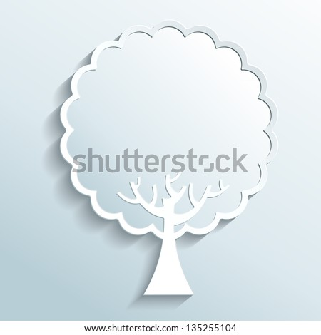 illustration - tree made of paper