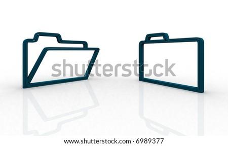 Illustration. Windows symbols: two directory