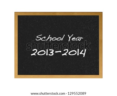 Illustration with a school calender 2013 and 2014.