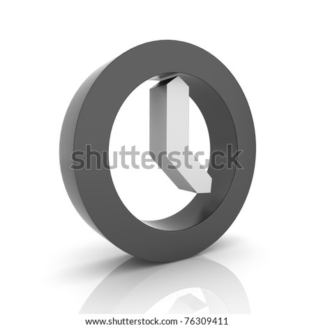 Illustration with black clock symbol (black collection)