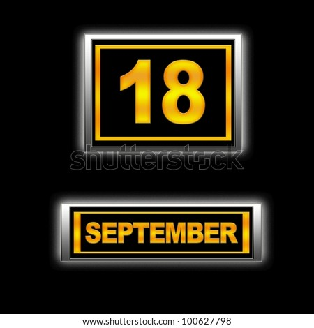 Illustration with Calendar, September 18.