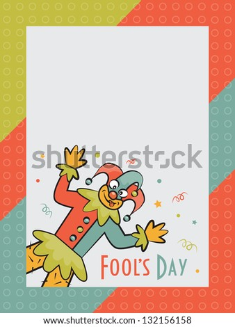 Illustration with clown and place under text