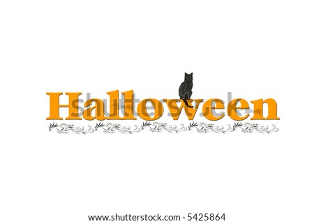 Illustration with the word Halloween