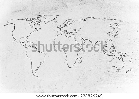 illustration with world map, global business and worldwide opportunities #226826245