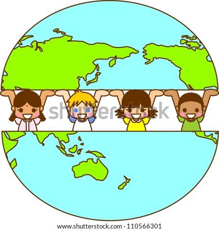 Illustration World Children