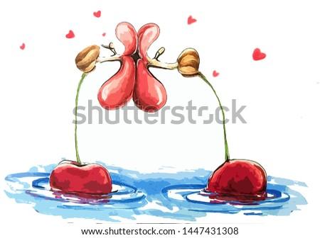 illustrations cartoon snail kiss caricature book