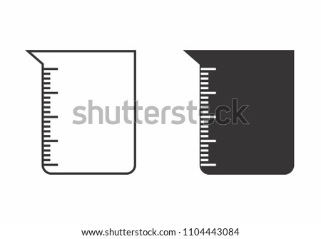Illustrations of isolated beckers on white background