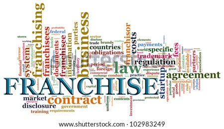 Illustraton of wordcloud related to word franchise