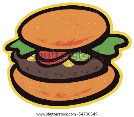 Illustrazione panino hamburger