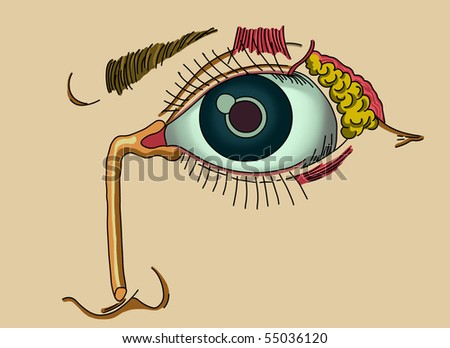Ilustration of lacrimal apparatus
