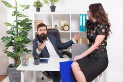 Im the only boss. Boss and sexy secretary in office. Office workers in formalwear. Boss and subordinate. Couple of business partners. Professional relations. Good boss is better than good company.