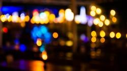 imaeg of  blurred bokeh background with warm orange lights (blurred)
