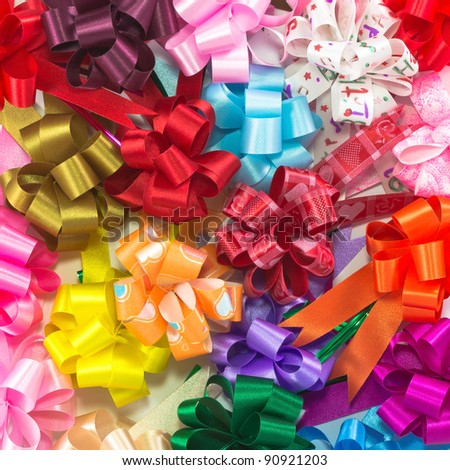 image background with many color bow