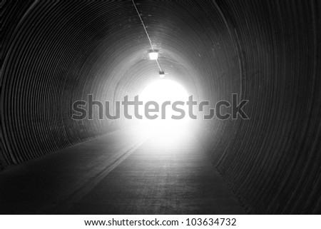 image from exterior background series (dark tunnel)